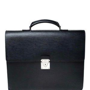 Louis Vuitton black Epi leather Robusto Briefcase